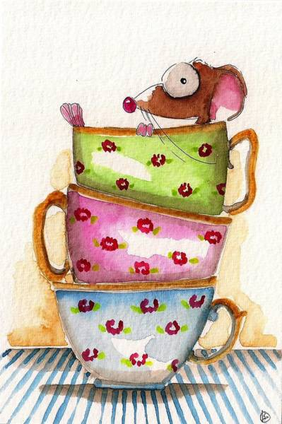 Cup Wall Art - Painting - Tea For One by Lucia Stewart