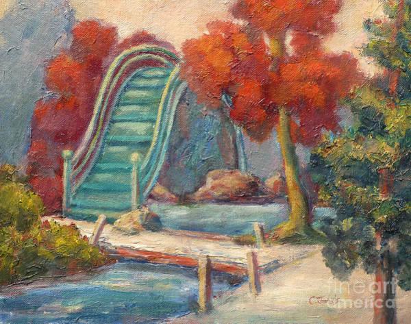 Painting - Tea Garden Bridge by Carolyn Jarvis