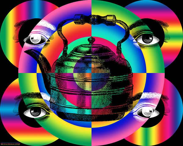 Digital Art - Tea Kettle by Eric Edelman