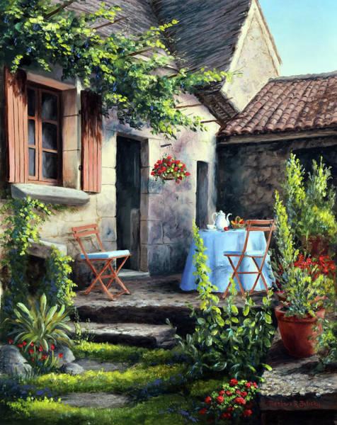 Porch Painting - Tea On The Terrace by Barbara Felisky