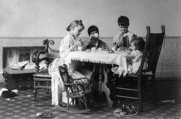 Photograph - Tea Party, C1893 by Granger
