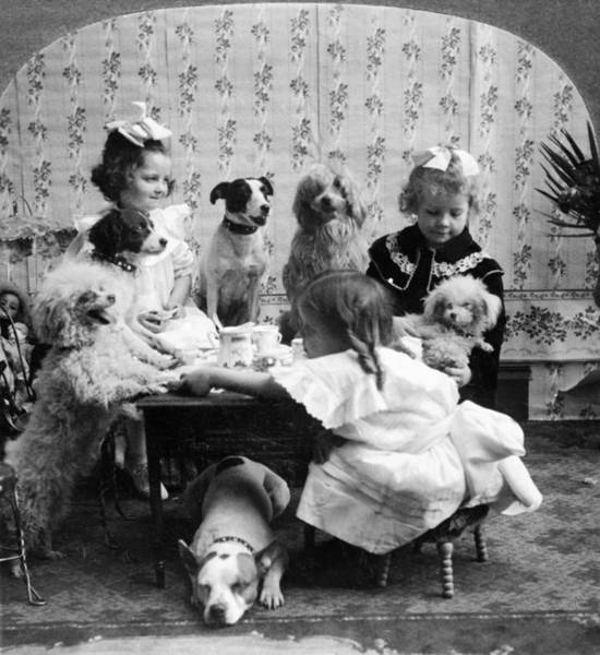 Photograph - Tea Party, C1906 by Granger