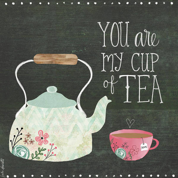 Kitchen Painting - Tea Pot by Katie Doucette