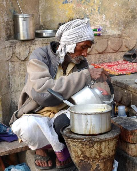 Bemis Photograph - Tea Stall On The Ghats  - Varanasi India by Kim Bemis