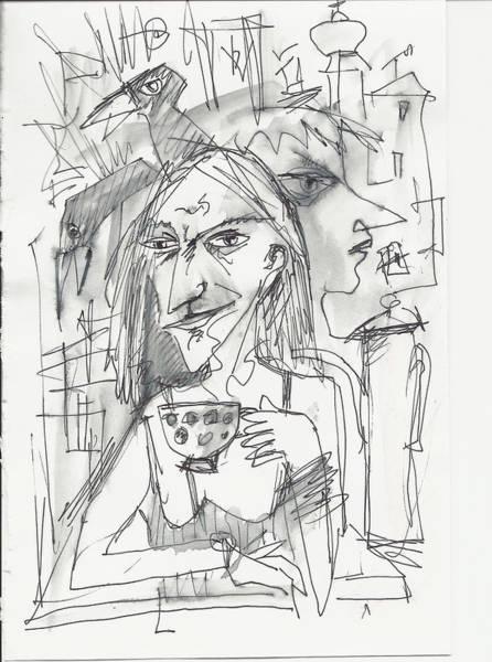 Drawing - Tea Time 1 by Maxim Komissarchik