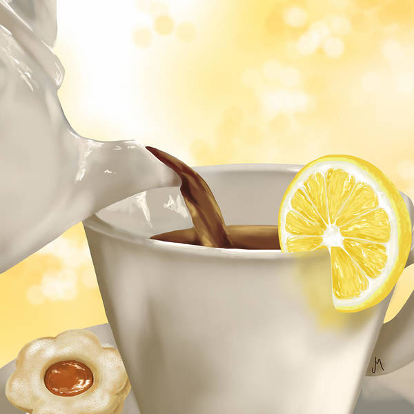 Detail Digital Art - Tea Time by Veronica Minozzi