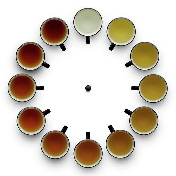 Clock Wall Art - Photograph - Tea Time by Wieteke De Kogel