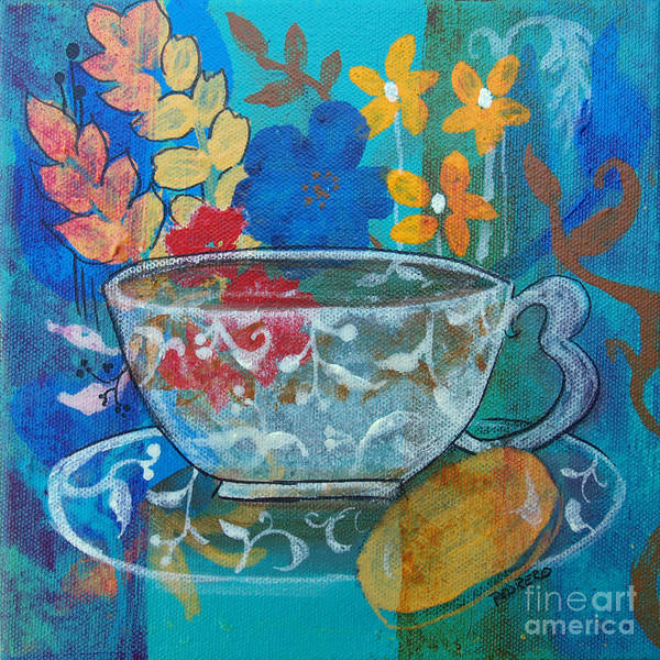 Painting - Tea With Biscuit by Robin Maria Pedrero