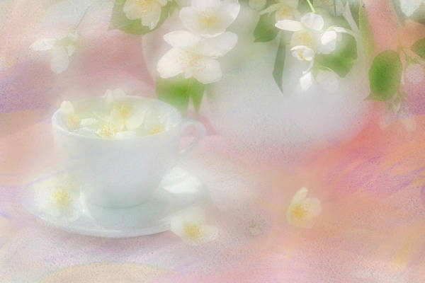 Jasmine Tea Photograph - Tea With Jasmine by Iryna Tuyakhova