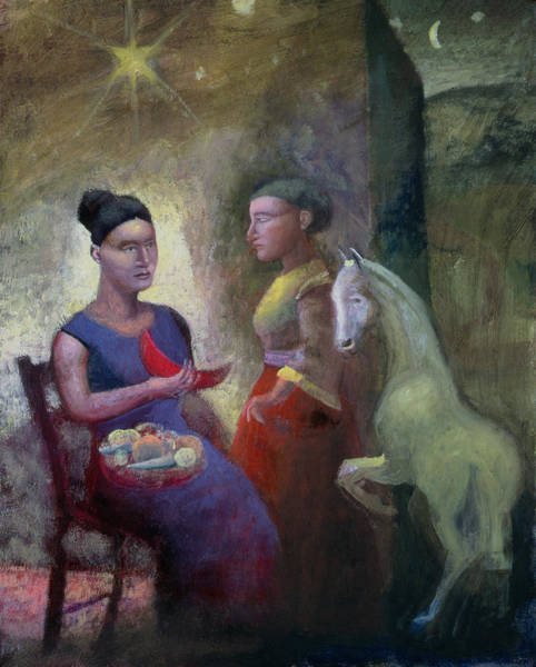 Mythical Photograph - Teaching Pegasus II, 2004 Oil On Canvas by Michael Rooney