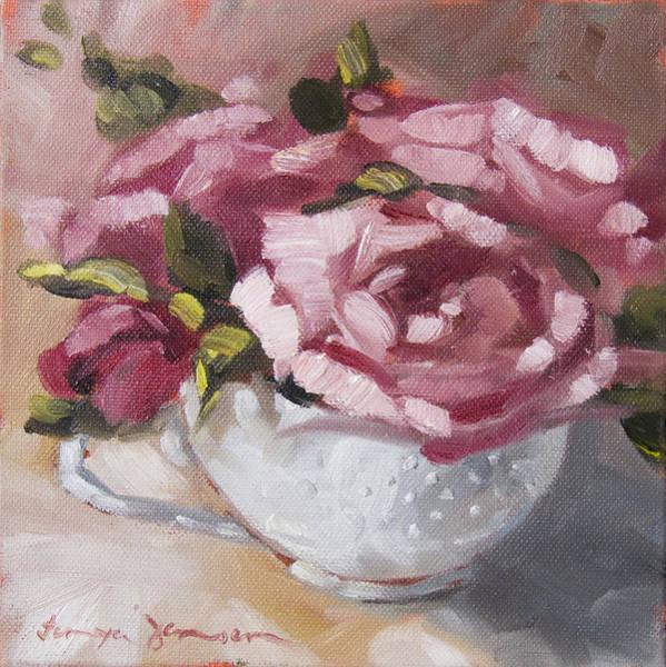 Teacup Painting - Teacup 1 by Tanya Jansen