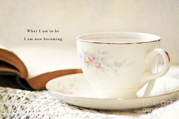 Photograph - Teacup And Book by Pam  Holdsworth