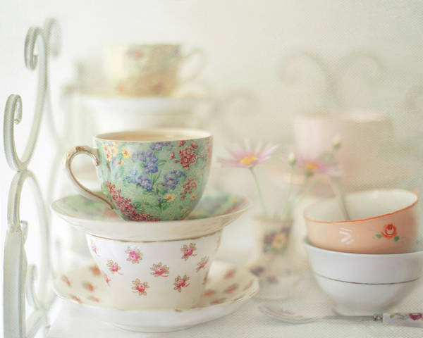 Australia Photograph - Teacups On White by Sharon Lapkin