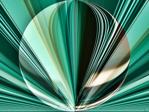 Digital Art - Teal - Aqua - Abstract Imposed by Kathy K McClellan