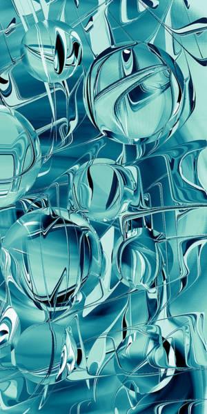 Digital Art - Teal Blue Steel Balls - Smart Phone by rd Erickson