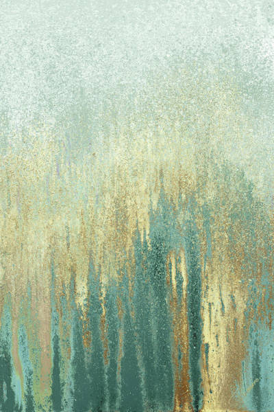 Teal Mixed Media - Teal Golden Woods by Roberto Gonzalez