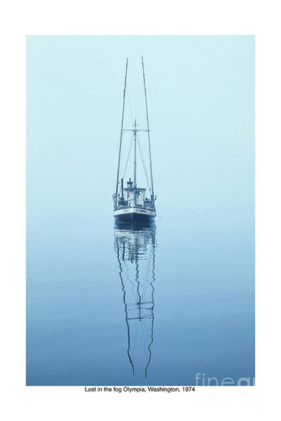 Photograph - Teal Lost In The Fog Olympia Washinton 1974 by California Views Archives Mr Pat Hathaway Archives