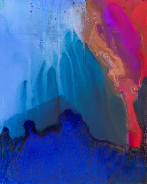 Painting - Teal Mountain Top by Priya Ghose