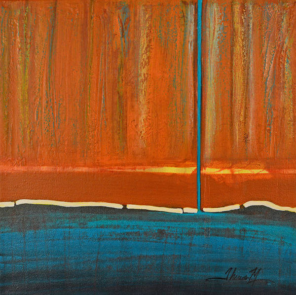 Wall Art - Painting - Teal Shadow by Therese Misner