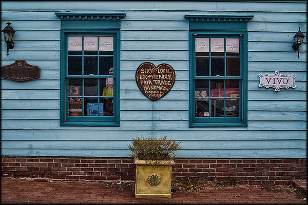 Photograph - Teal Storefront by Erika Fawcett