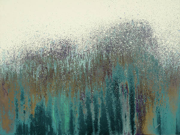 Teal Mixed Media - Teal Woods by Roberto Gonzalez