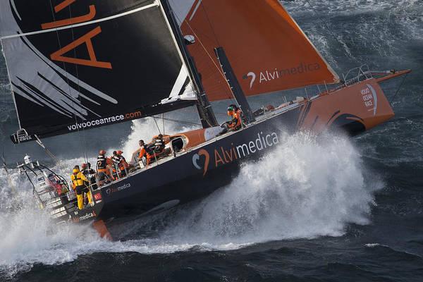 Racing Yacht Photograph - Team Alvimedica-1 by Gilles Martin-Raget