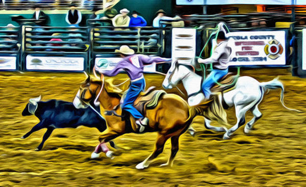 Wall Art - Photograph - Team Ropers by Alice Gipson