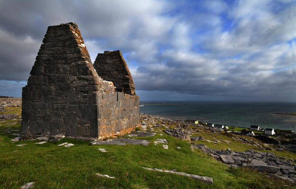Hermitage Photograph - Teampall Bheanain Dates From The 11th by Panoramic Images