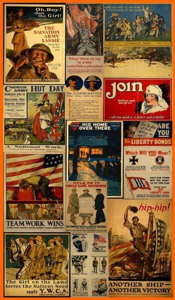 War Bonds Digital Art - Teamwork Of World War I by Carl Mellick