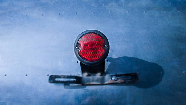 Stop Light Photograph - Teardrop Taillight by YoPedro