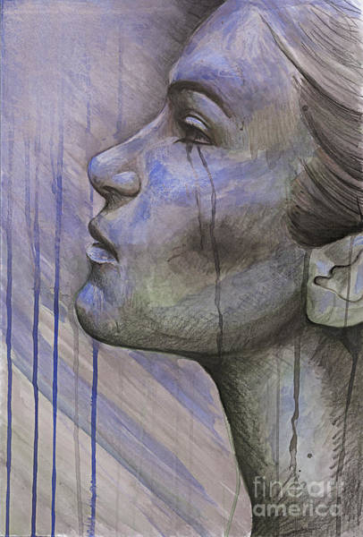 Wall Art - Mixed Media - Tears In The Rain by Michael Volpicelli