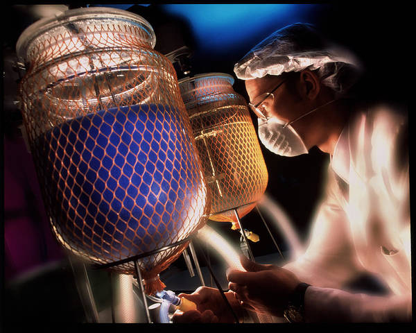 Shattered Photograph - Technician Carrying Out Chemical Research by Deep Light/science Photo Library