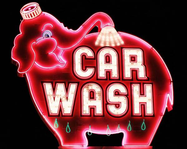 Car Wash Photograph - Technicolor Pachyderm by Benjamin Yeager