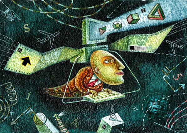 Curiosity Painting - Technology by Leon Zernitsky