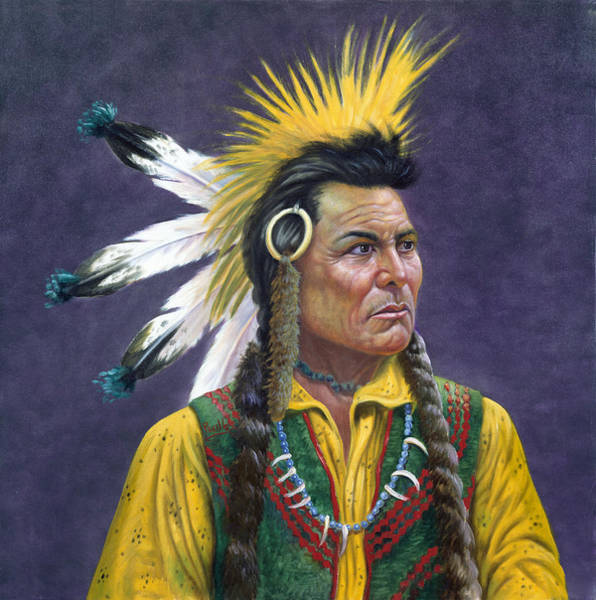 Wise Man Wall Art - Painting - Tecumseh by Gregory Perillo