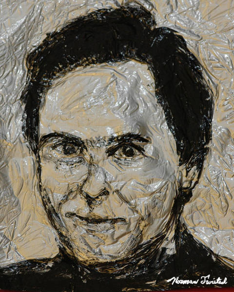Ted Bundy Painting - Ted Bundy In Black And White by Norman Twisted