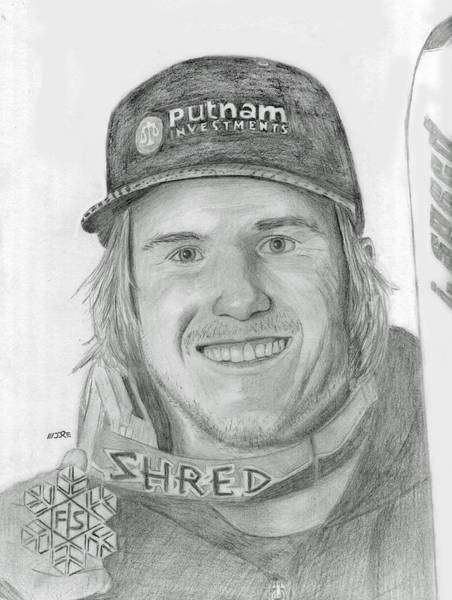 Drawing - Ted Ligety by Pat Moore