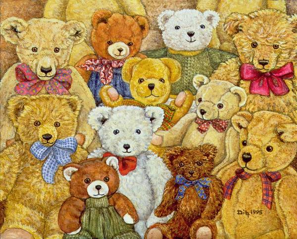 Teddy Bear Painting - Ted Patch by Ditz