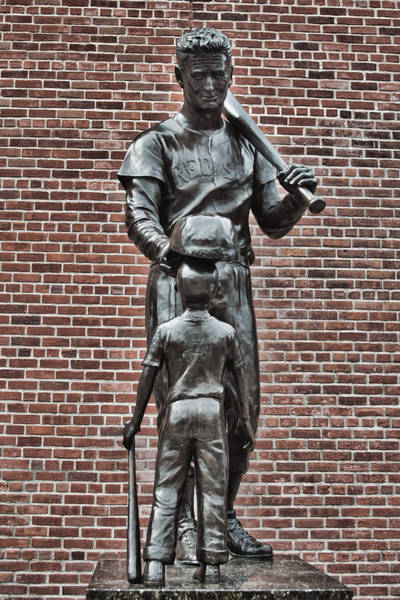 Ted Photograph - Ted Williams Statue - Boston by Joann Vitali