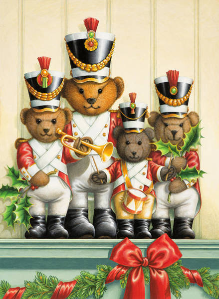 Teddy Bear Painting - Teddy Bear Band by Lynn Bywaters