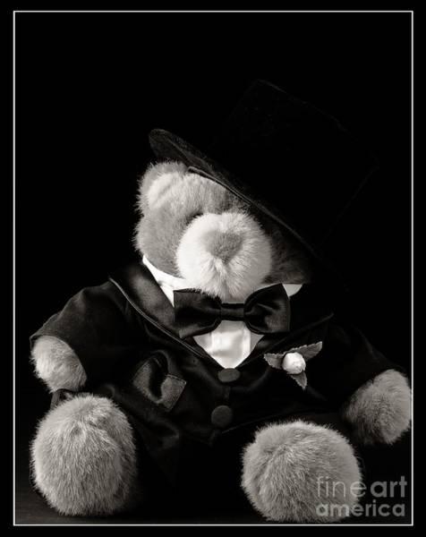 Stuffed Animal Photograph - Teddy Bear Groom by Edward Fielding