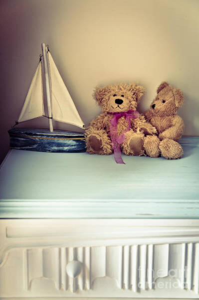 Chest Of Drawers Photograph - Teddy Bears by Jan Bickerton