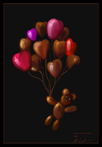 Wall Art - Painting - Teddy - Scratch Art Series - #68 by Steven Lebron Langston