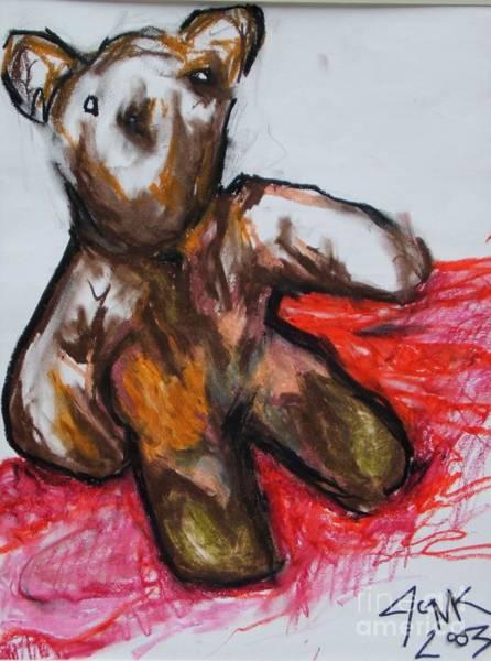 Drawing - Teddybear by Jon Kittleson
