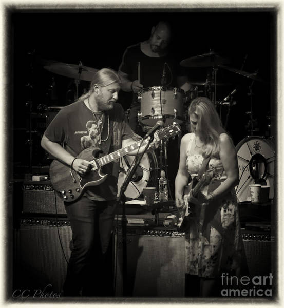 Truck Digital Art - Tedeschi Trucks Band by Christopher Cutter