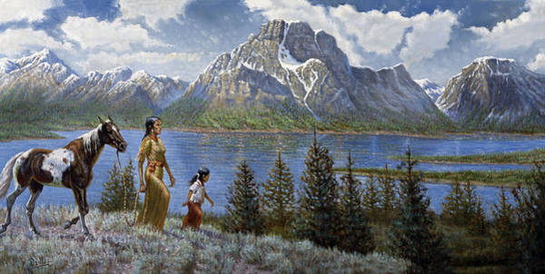 Wall Art - Painting - Tee Tons Wyoming by Gregory Perillo