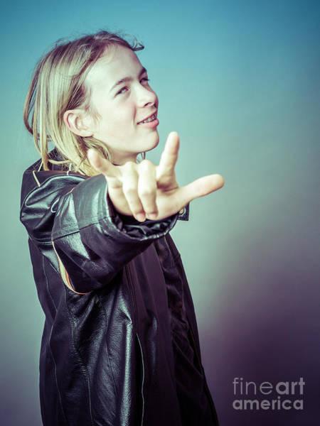 Photograph - Teen Boy Rocker by Edward Fielding