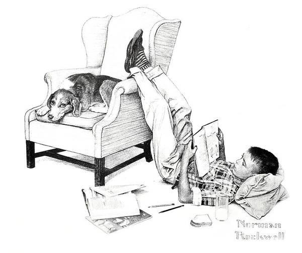 Teenager Studying Art Print