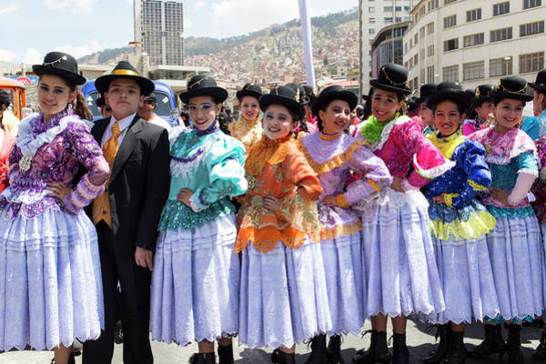 Hip Photograph - Teenagers Of La Paz Dress In by Graham Lucas Commons