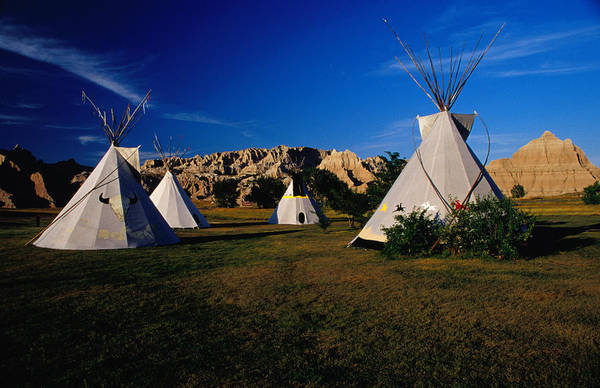 Tent Photograph - Teepee Tent Site In Badlands National by Kristin Piljay